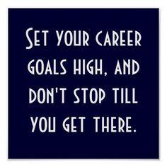 your career goals
