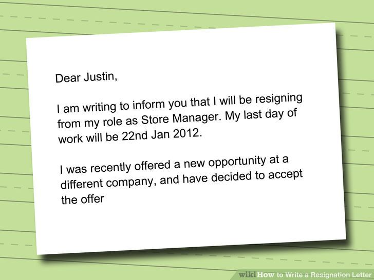 how to write an resignation letter